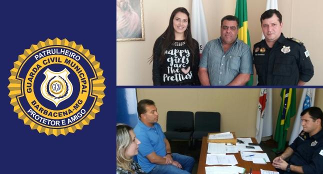 Corporação recebeu a visita do prefeito de Santa Bárbara do Tugúrio